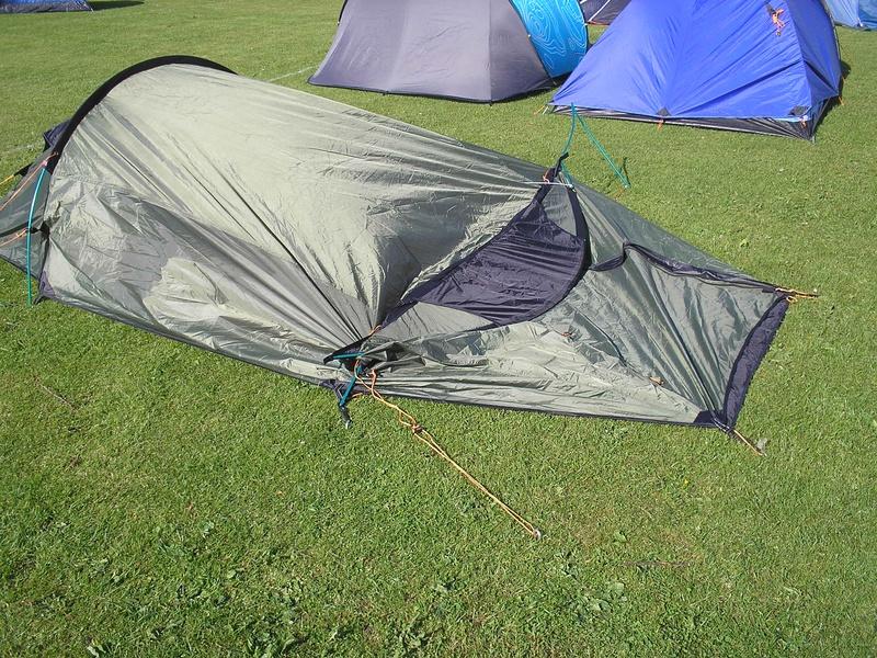 Dave's tent after a light breeze!